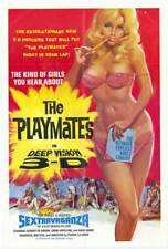 """The Playmates in Deep Vision 3-D (1973) Style-A Sexy Porn Movie Poster 27x40"""""""