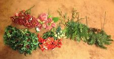 Lot Christmas Poinsettias, Evergreens, Holly - New & Used