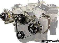 Jones Racing Products Complete SBC Serpentine Belt Drive Kit w/ Water & PS Pump~