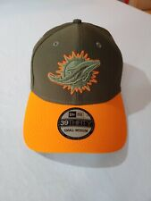 New Era Miami Dolphins 39THIRTY NFL 2017 Salute To Service Sideline Hat S/M