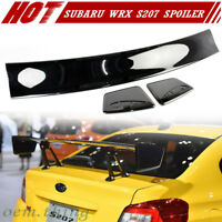 Painted Glossy Black For SUBARU WRX STI S207 Boot Trunk Spoiler Wing 2017 2015