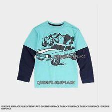 Nwt Crazy 8 boys size 7-8 blue big Car t-shirt top long sleeve tee Winter new