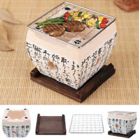 Japanese Korean BBQ Table Grill Charcoal Konro Ceramic Hibachi Yakitori
