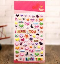 FD4498 Korea Design I Love You 3D Bubble Sticker for Diary Reward Moblie Phone ♫