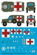 Peddinghaus 1/72 US Army and US Navy Dodge WC-54 Ambulance Markings [Decal] 3303