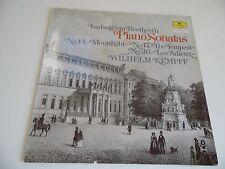 "Beethoven . Piano Sonatas . Wilhelm Kempff . 12"" 33rpm LP Record . 1965 ."