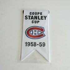 2008-09 MONTREAL CANADIENS CENTENNIAL STANLEY CUP MINI BANNER 1958-59 SEALED
