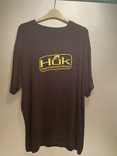 Huk Performace Fishing  Black T-shirt With Yellow Logo