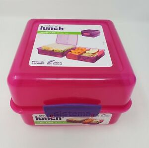Sistema Lunch Cube Food Container 47.3 oz. - New - Pink