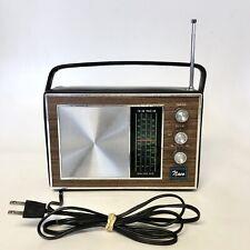 Vintage Naco Solid State Transistor Radio AM/FM/Police/Air NA-8999