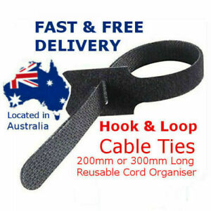 Magic Cable Ties Reusable Hook and Loop Cable Ties Organiser Cords 200mm Long