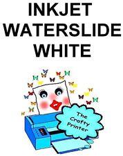 INKJET Waterslide Decal Paper -  20 Sheets - WHITE