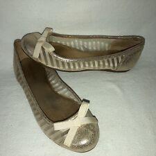 35e458407787 Kate Spade New York Women s 6M Gold Metallic Leather Mesh Slip On Cap Toe  Flats