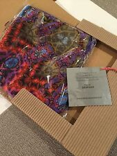 Auth 300$ Paraguay Parallel Limited Edition Multi-Color Silk Scarf 100%,  Italy