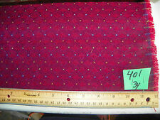 Red Shell Print Upholstery Fabric  1 Yard  R401