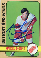 Detroit Red Wings Marcel Dionne signed 1972 73 Topps card