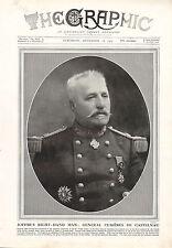 1915 WWI PRINT ~ GENERAL CURIERES DE CASTELNAU JOFFRE'S RIGH-HAND MAN