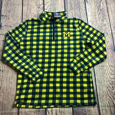 Campus Specialties Womens Medium 1/4 Zip Flannel Pullover Long Sleeve Jacket New