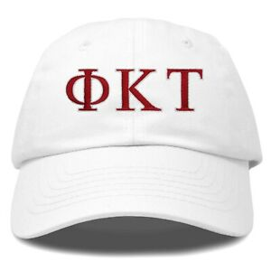 DALIX Phi Kappa Tau Greek Letters Ball Cap Embroidered Hat in White