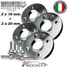 KIT 4 DISTANZIALI RUOTE 16+20 mm. VOLKSWAGEN GOLF V 2003->2008 CON BULLONI