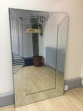 Frameless Glass Edge Wall Mounted Modern Mirror 147cm x 91cm