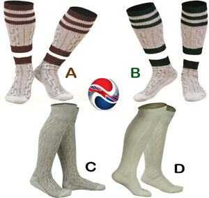 WHITE & BROWN MIX BAVARIAN SOCKS OKTOBERFEST / CAUSAL LEDERHOSEN SOCKS IN PAIRS