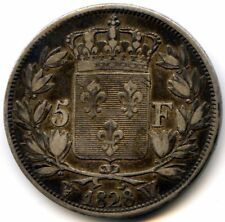 Charles X (1824-1830) 5 Francs 2e Type 1828 W Lille