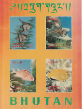 Bhutan 4789 - 1969 FISH m/sheet in 3 DIMENSIONAL FORMAT 3D