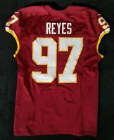 #97 Kendall Reyes of Washington Redskins NFL Locker Room Game Issued Worn Jersey