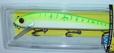 "8 1/2"" Giant FlatStick GFS22-651 Green Fire UV Storm Rapala Lure Musky Pike"