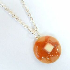 Pancake Syrup Necklace, Miniature Food Jewelry, Cute! :)