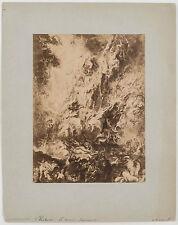 RUBENS CHUTE DES DAMNÉS PHOTO D'ART SIGNÉE HANFSTAENGL MUNICH ALLEMAGNE 1869
