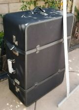 Vintage Mulholland Holland Brothers Leather Travel Trunk Case Luggage Bag 36""