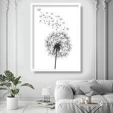 DANDELION spores Illustration Art Print Poster Garden Flowers Picture