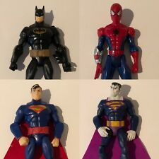 "Marvel DC Lot 4 Superhero Action Figures Batman Spiderman Superman Bizarro 6"""