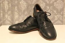 H By Hudson Leather Lace Up Blue Brogue office Formal Suit casual Shoes UK 8 42