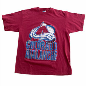 VTG 90s Colorado Avalanche Starter Tshirt Mens Size Large L Burgundy Made In USA