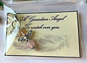 GUARDIAN ANGEL GEMSTONE HEALING  CRYSTAL  BAG CHARM GIFT KEYRINGS  chakra gift
