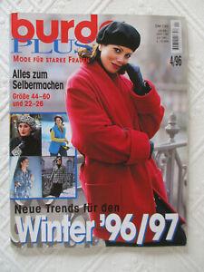 Burda Plus Schnittmusterheft Winter 4/96 - Gr. 44 – 60 + 22 - 26