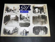 GIF-SUR-YVETTE BURES-SUR-YVETTE 8 PHOTOGRAPHIES ORIGINALES Décor Manuscrit 1900