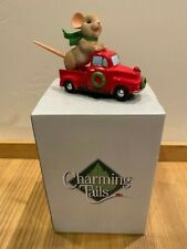 Dean Griff Charming Tails -Truckin' to a Happy Holiday - Mouse Red Truck #133491