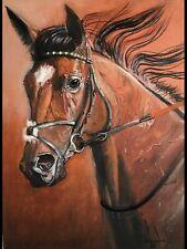 Equesterian . Equine horse animal oil painting original  Art