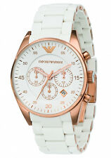 Emporio Armani Sportivo White/Rose Gold Quartz Analog Unisex Watch AR5919