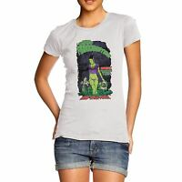 Women's Cotton Funny Horror Design Bride Of Frankenstein Print T-Shirt