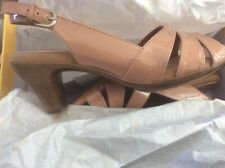 Patent leather look slingback sandals, Softspots Niema blush, 8w, brand new