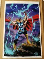 Thor Don Hillsman II DH2 Original Painting 11x17 Beautiful Marvel Comic Art