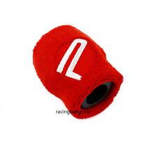 1 PCS Red Password JDM Car Reservoir Tank Oil Cover Sock Racing Tank Sock