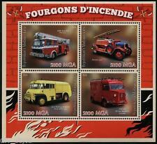 Fire Trucks MINI FEUILLE DE 4 Timbres MNH MADAGASCAR 2014