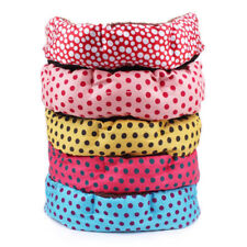 Soft Pet Dog Puppy Cat Dot Bed Cushion Nest Plush Small Pet Bed Washable l