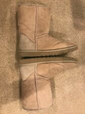Classic Women's Ugg Short Sheepskin Boot in color Sand, Size 7
